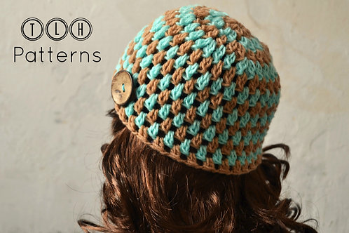 Clusters and stripes beanie pattern