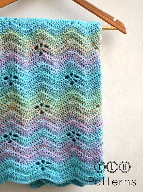 Floating leaves crochet baby blanket