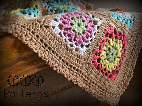 Desert in bloom baby blanket