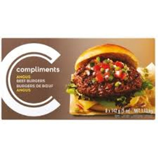 COMPLIMENTS ANGUS BEEF BURGERS