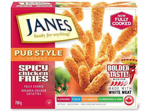 JANES PUB STYLE FROZEN SPICY CHICKEN FRIES 1.1KG