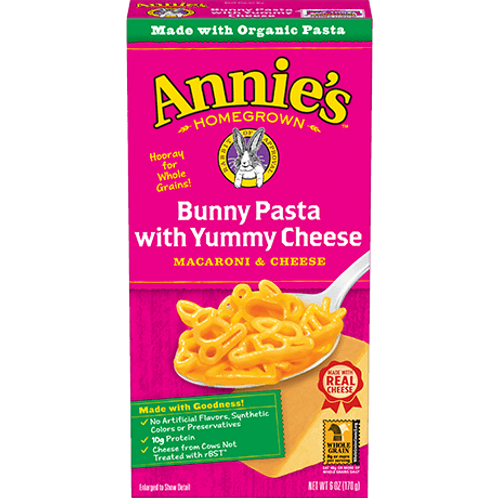 ANNIE'S MAC N CHEESE (BUNNY PASTA WITH YUMMY CHEESE)