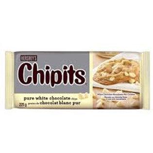 HERSHEYS CHIPITS PURE WHITE CHOCOLATE CHIPS