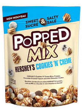 HERSHEYS POPPED MIX COOKIES N CREME POUCH