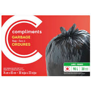COMPLIMENTS GARBAGE BAGS 90L 24BAGS