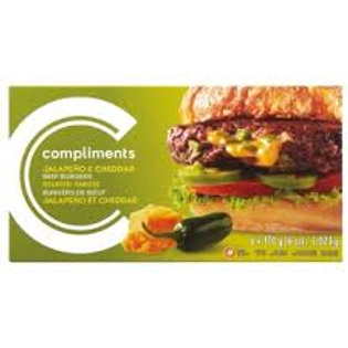 COMPLIMENTS JALAPENO AND CHEDDAR BEEF BURGERS