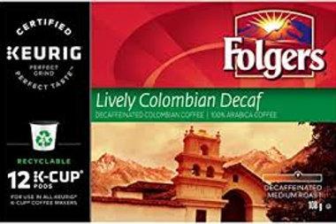 KEURIG FOLGERS (LIVELY COLOMBIAN DECAF)