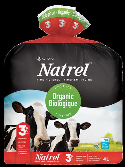 NATREL ORGANIC 3.8% MILK BAG