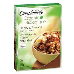 COMPLIMENTS ORGANIC HONEY & ALMOND CEREAL