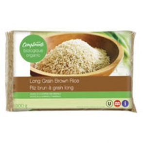 COMPLIMENTS ORGANIC LONG GRAIN BROWN RICE