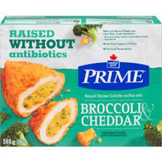 PRIME CHICKEN CUTLETTE  STUFFED W/BROCCOLI & CHEDDAR