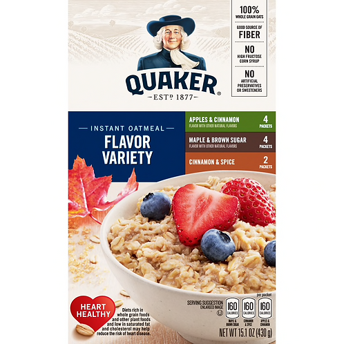 QUAKER OATMEAL VARIETY FLAVOR PACK