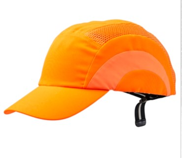 Hi Vis Bump Cap Fluoro Orange BCFO 1