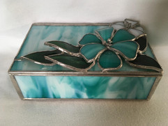 Turquoise Box with Flowers