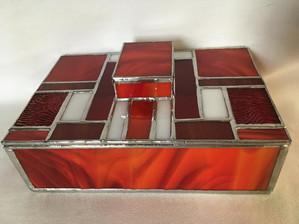 Glass Box with Geometric Pattern