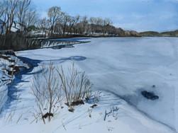 Union Pond in Winter