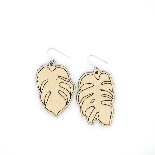 SWISS CHEESE PLANT 2 / earrings