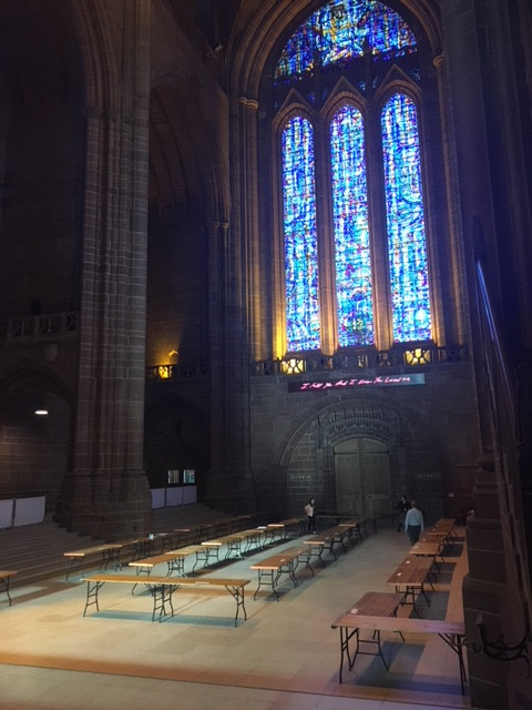 The well at Liverpool Angican Cathedral where the exhibition will start.