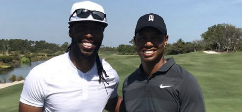 Larry Fitzgerald, a guy you'd let bone your mom golfing with Tiger Woods, a guy who probably already has.