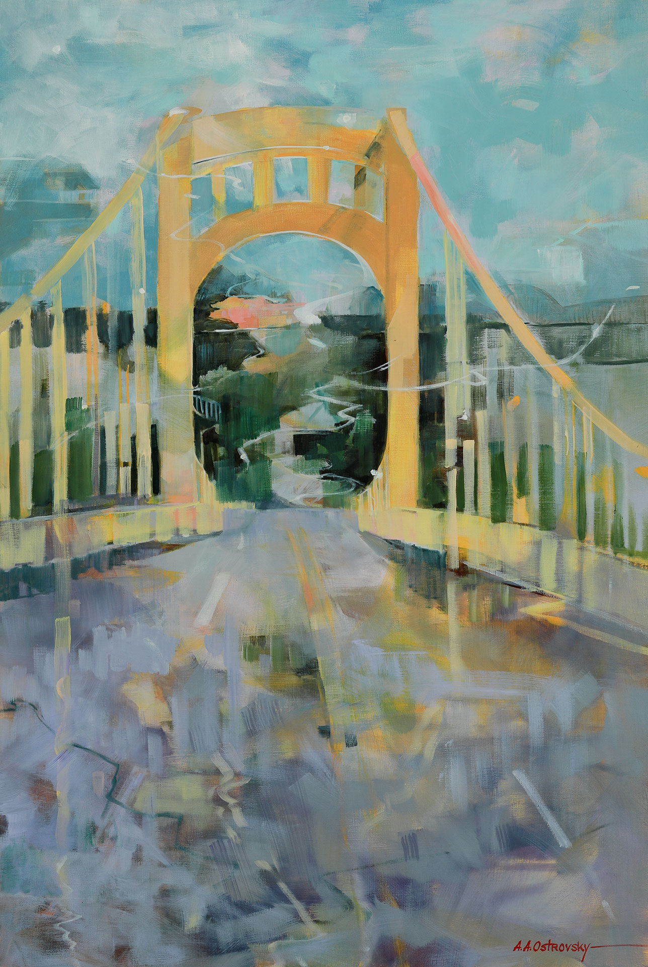 Rachel Carson Bridge Oil on Canvas 36 x 24