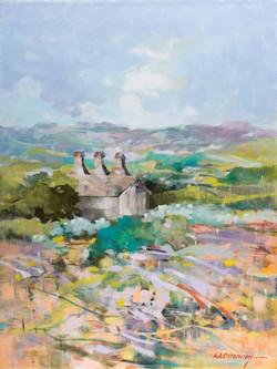 Hop Kiln Winery Oil on Canvas 24 x 18