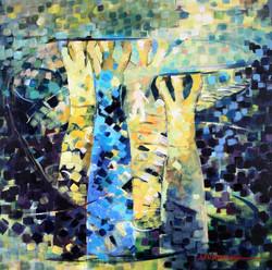 Caryatids Oil 1 on Canvas 24 x 24