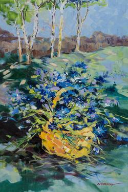 Cornflowers oil on canvas 36 x 24 Sold
