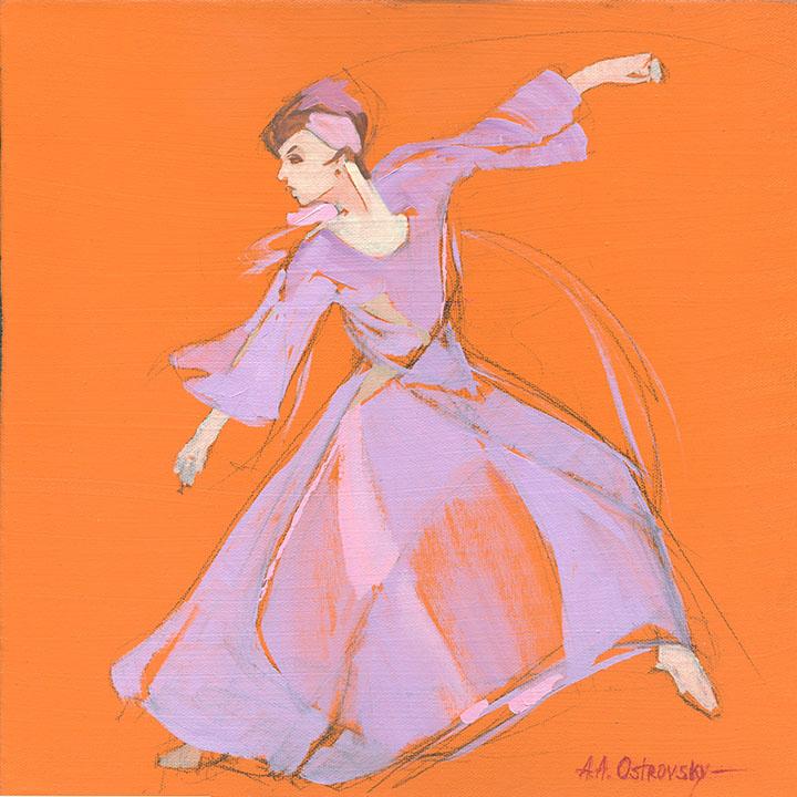 Orange  Dancer Study
