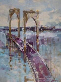 Newport Bridge Oil on Canvas 48 x 36