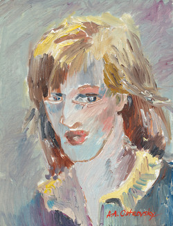 Self Portrait 12x9 Oil on Canvas
