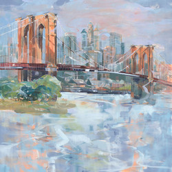 Brooklyn Bridge 48x48 Oil on Canvas