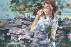 Peonies 24x36 Oil on Canvas
