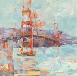 Golden Gate Bridge 48x48 Oil on Canvas