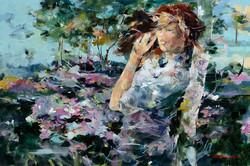 Peonies Oil on Canvas 24 x 36