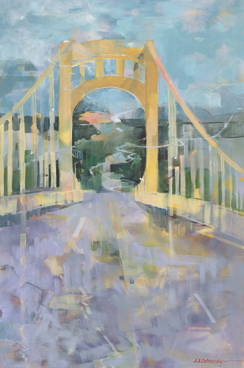 Rachel Carson Bridge 36x24 Oil on Canvas