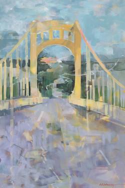Rachel Carson Bridge 36x24 Oil on Canvas