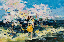 Blossoms' Whisper Oil on Canvas 24 x 36 Sold