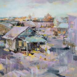 Twilight Oil on Canvas 30 x 30 Sold