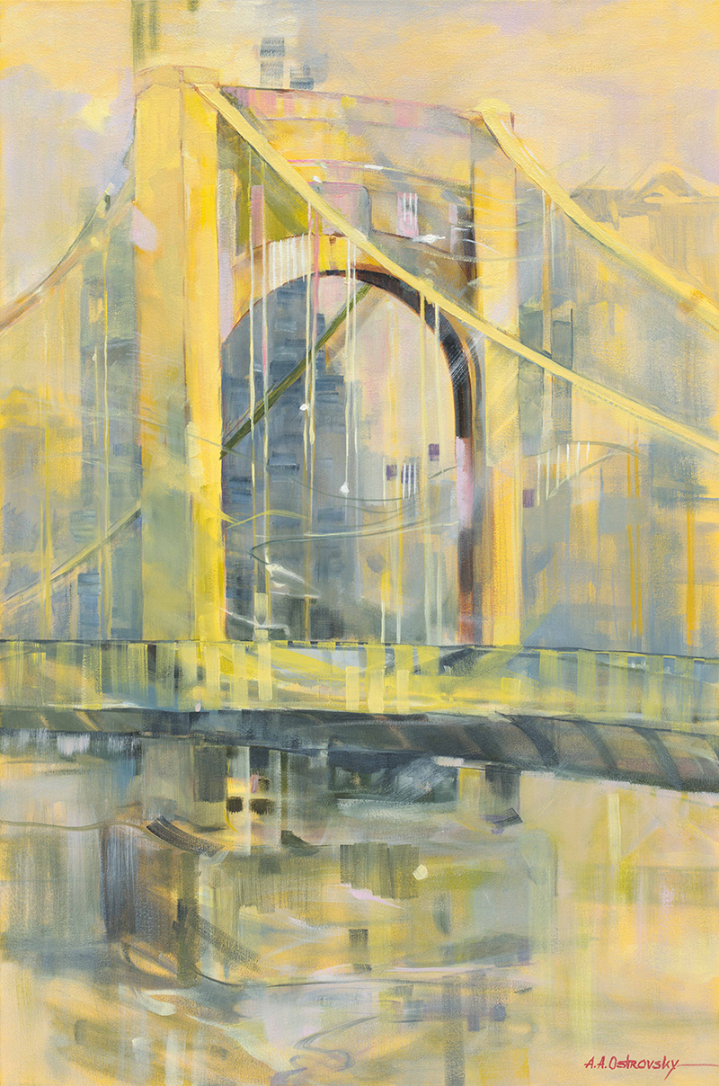 Andy Warhol Bridge 36x24 Oil on Canvas
