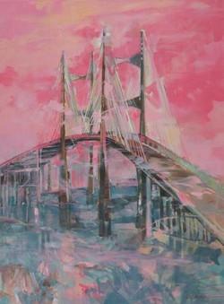 Dames Point Bridge Oil on Canvas 40 x 30 Sold