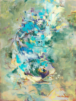 Fish Oil on Canvas 24 x 18