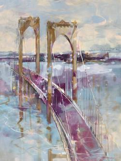 Newport Bridge 48x36 Oil on Canvas