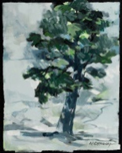 Evergreen Oil on Canvas 20 x 16 Sold