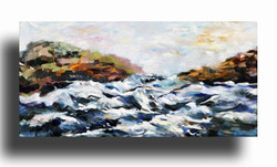 Seascape Oil on Canvas 12 x 24 Sold