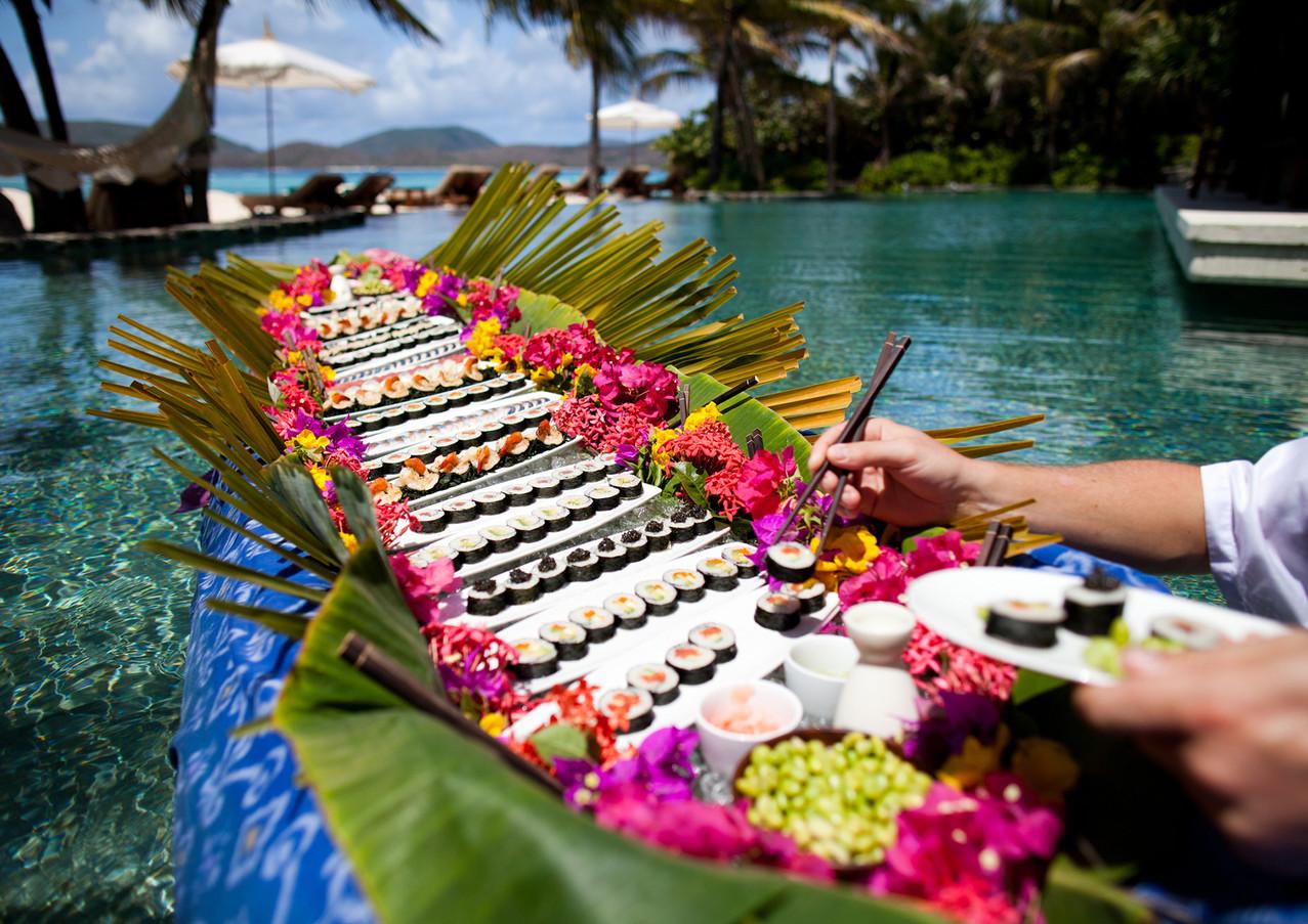 necker island sushi canoe