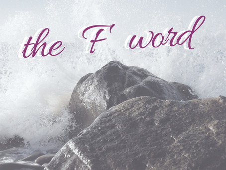 the F word:  forgiveness