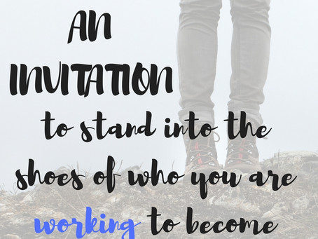 An invitation to stand into YOU