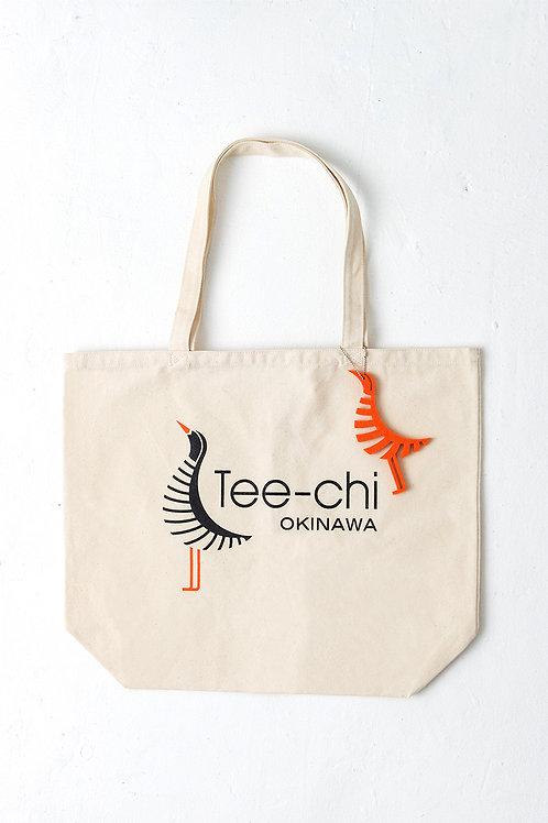 Tee-chi トートバッグ・Mサイズ<Tee-chiくんプリント><NATURAL>