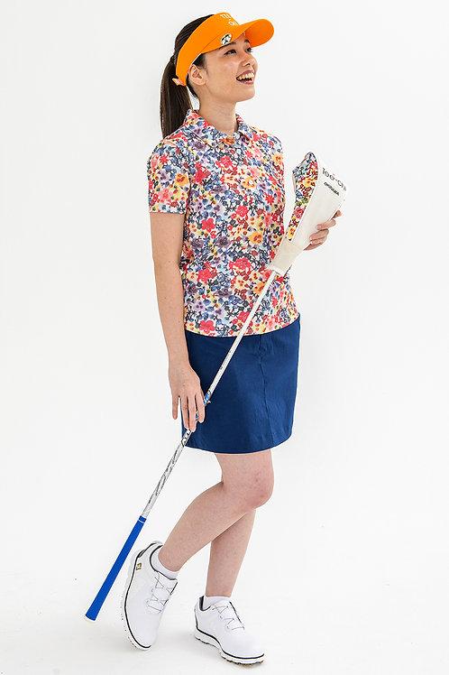 Tee-chi レディースポロシャツ <紅型><MULTI>