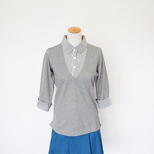 Tee-chi レディースポロシャツ(7分袖)<GREY>